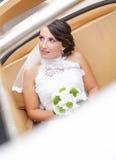 Bröllopbrud i den vita klänningen Royaltyfri Foto