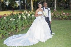 Bröllopbrudbrudgum Royaltyfria Foton