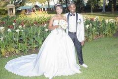 Bröllopbrudbrudgum Fotografering för Bildbyråer