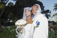 Bröllopbrudbrudgum Arkivfoton