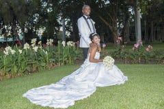 Bröllopbrudbrudgum Arkivfoto