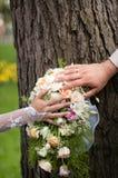 Bröllopbukett Arkivfoton
