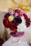 Bröllopbukett av blommor för bruden Royaltyfri Fotografi