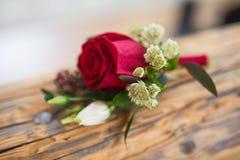 bröllopbukett av brudgummen Fotografering för Bildbyråer
