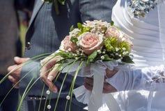 Bröllopbukett av rosor Arkivbild