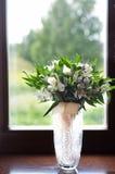 Bröllopbukett av vit Alstroemeria Fotografering för Bildbyråer
