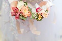 Bröllopbukett, brud- bukett, boutonniere Royaltyfri Bild