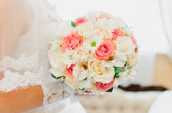 Bröllopbukett, brud- bukett, boutonniere Arkivbild