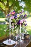 Bröllopbukett för dekor Fotografering för Bildbyråer
