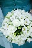 Bröllopbukett med rings.GN royaltyfri bild