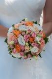 Bröllopbukett med rosor Fotografering för Bildbyråer