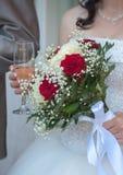 Bröllopbukett med rosor Royaltyfri Foto