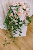 Bröllopbukett på sockel arkivbilder