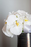 Bröllopbukett som göras från den vita orkidén Fotografering för Bildbyråer