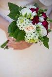 Bröllopbukettcloseup Fotografering för Bildbyråer