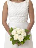 Bröllopbuketten räcker in av bruden Arkivfoton
