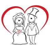 Bröllopceremoni royaltyfri illustrationer
