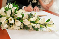 Bröllopceremoni Arkivfoto