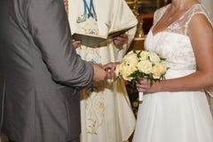 Bröllopceremoni Fotografering för Bildbyråer