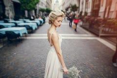 Bröllopdag i Budapest Royaltyfria Foton