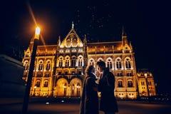 Bröllopdag i Budapest Arkivbilder