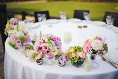 Bröllopdekorblommor Arkivbild