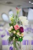Bröllopdekorblommor Fotografering för Bildbyråer