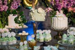 Bröllopefterrätt fotografering för bildbyråer