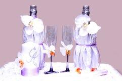 Bröllopexponeringsglas Arkivbild