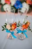 Bröllopexponeringsglasgarneringar Royaltyfria Bilder