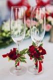 Bröllopexponeringsglasgarneringar Royaltyfri Foto