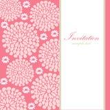 Bröllopfödelsedagkort eller inbjudan med abstrakt begrepp  Arkivbild