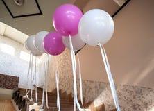 Bröllopflygballonger Royaltyfri Fotografi