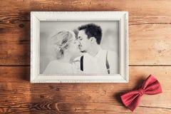 Bröllopfoto royaltyfria bilder