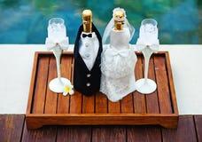 Bröllopgarnering Fotografering för Bildbyråer