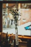 Bröllopgarnering i form av den exponeringsglaskrus och blomman Arkivbild