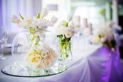 Bröllopgarnering med tulpan Royaltyfri Foto