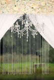 Bröllopgarnering på naturen Royaltyfria Foton