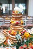Bröllopgodisstång, kaka Arkivfoto