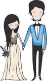 Bröllopillustration, royaltyfri bild
