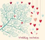 Bröllopinbjudan Royaltyfri Foto
