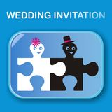 Bröllopinbjudan Arkivfoto