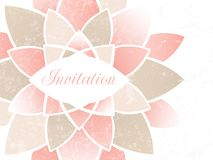 Bröllopinbjudan. royaltyfri illustrationer