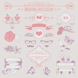 Bröllopinbjudan vektor illustrationer