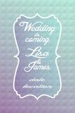 Bröllopinbjudan Royaltyfria Bilder
