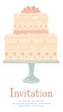 Bröllopinbjudan royaltyfri illustrationer