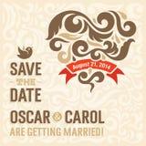 Bröllopinbjudan 2 Arkivbild