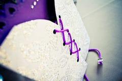 Bröllopinbjudan - detalj Arkivbilder