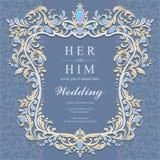 Bröllopinbjudan eller kort med abstrakt bakgrund Royaltyfria Bilder