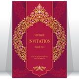 Bröllopinbjudan eller kort med abstrakt bakgrund Royaltyfri Bild